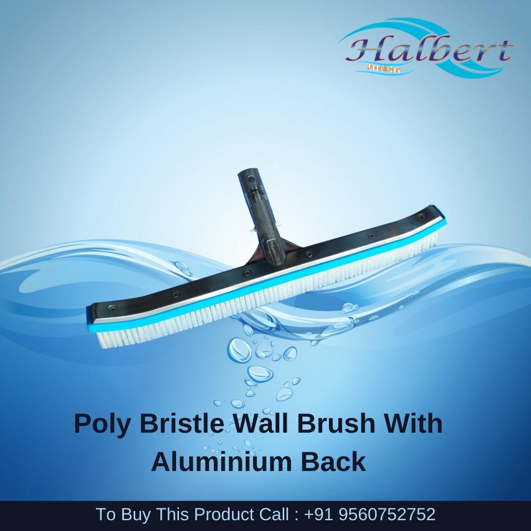 "Poly Bristle Wall Brush With Aluminium Back Handle - 18"""