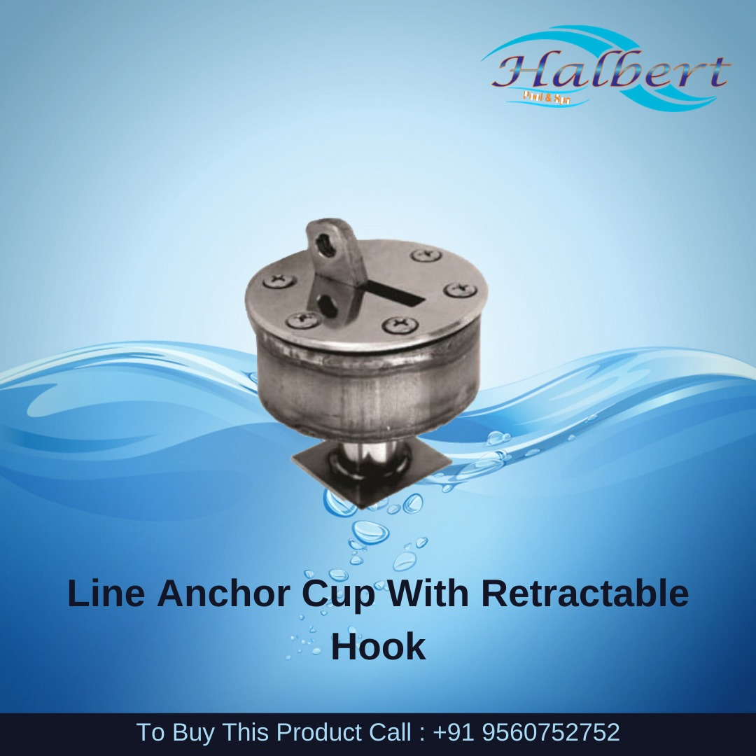 Line Anchor Cup With Retractable Hook
