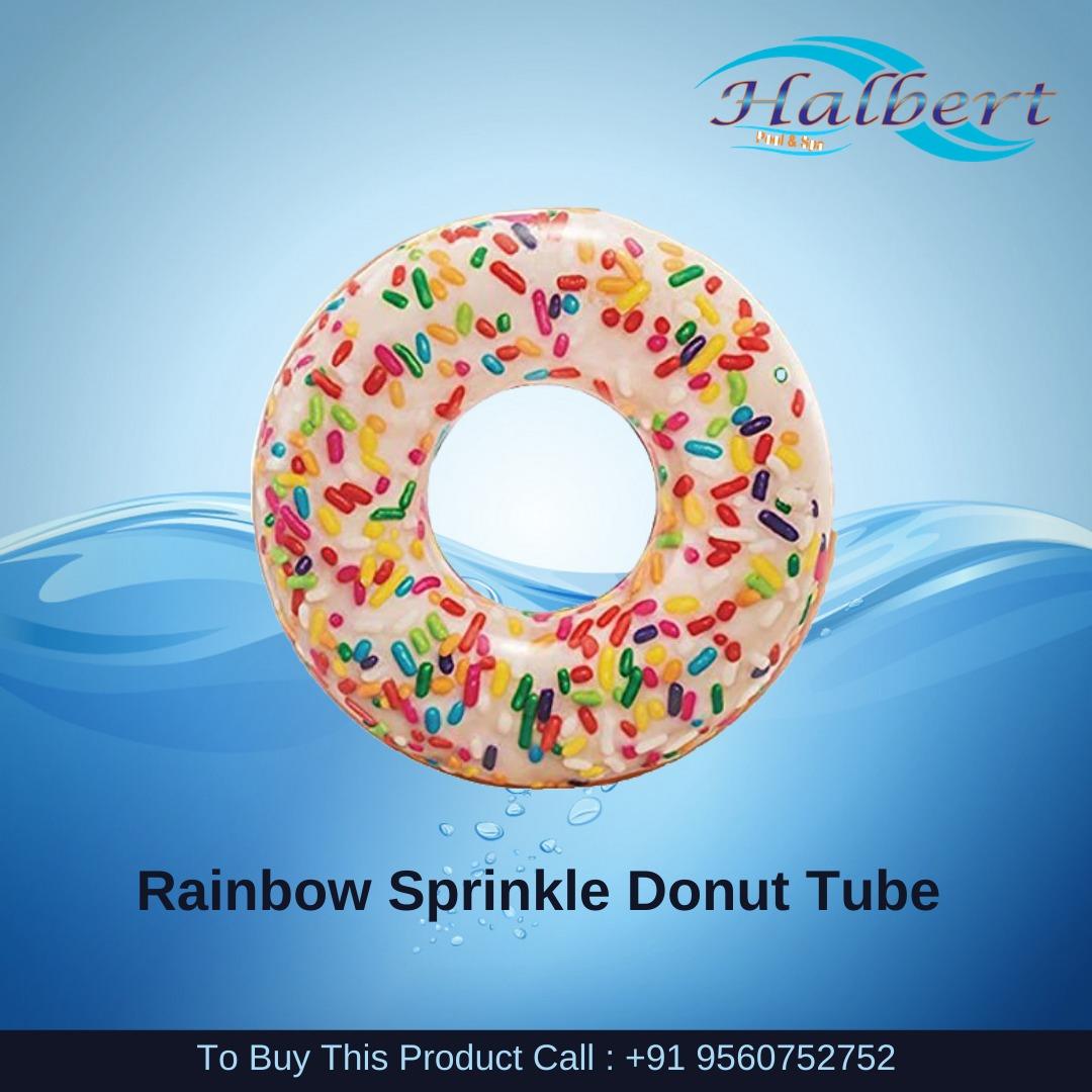 Rainbow Sprinkle Donut Tube
