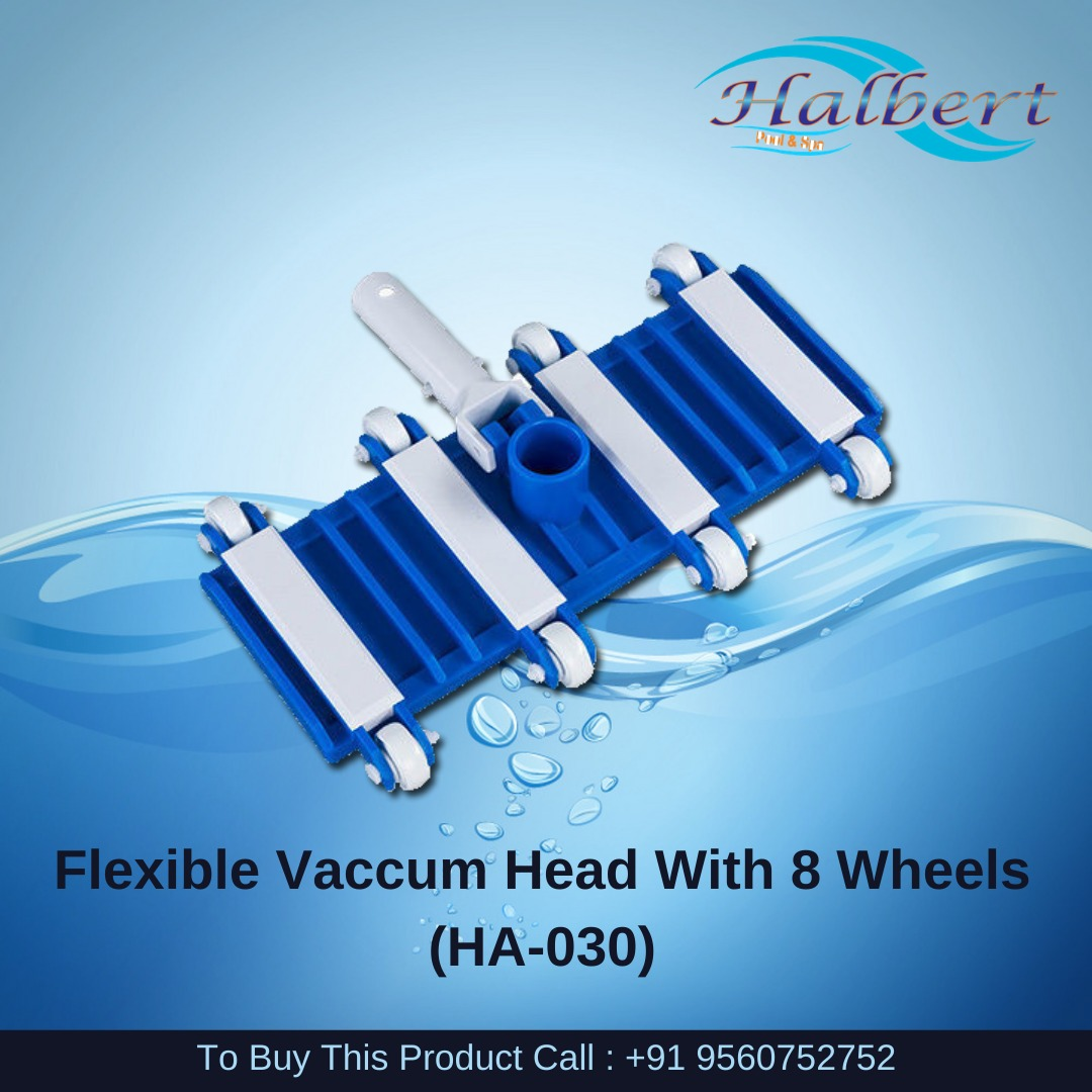 Flexible Vaccum Head For In Ground Pools With 8 Wheels