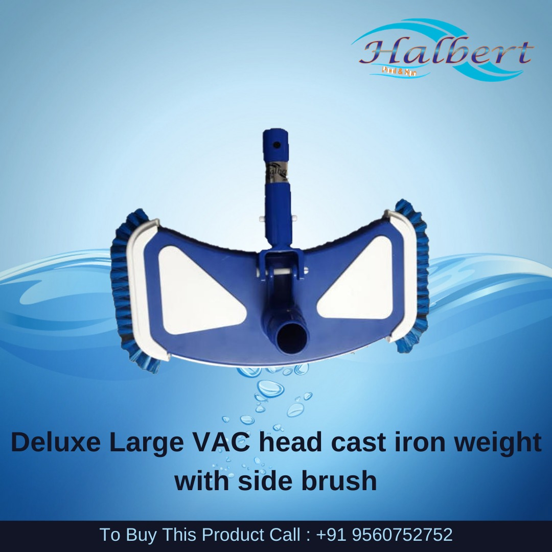 Deluxe Large VAC Head Cast Iron Weight With Side Brush
