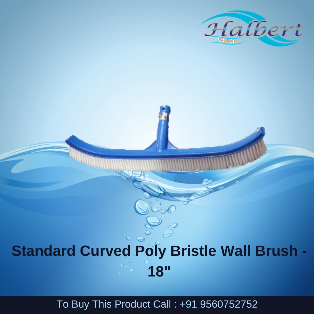 """Standard Curved Poly Bristle Wall Brush - 18"""""""